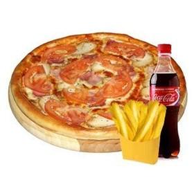 Пицца + Кока-Кола + картофель фри - Фото