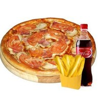 Пицца + Кока-Кола + картофель фри Фото
