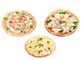 2 пиццы + пирог - Фото