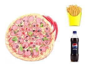 Пицца + картошка фри + Пепси - Фото