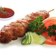 Шашлычок из курицы с овощами Фото