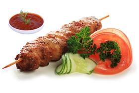 Шашлычок из курицы с овощами - Фото