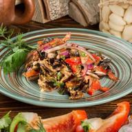 Баклажаны с овощами Фото