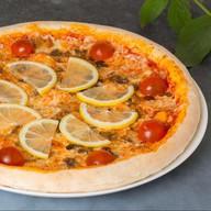 Лосось терияки пицца Фото