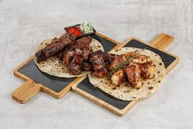 Мангал три вида мяса - Фото