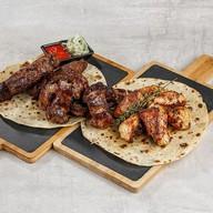 Мангал три вида мяса Фото