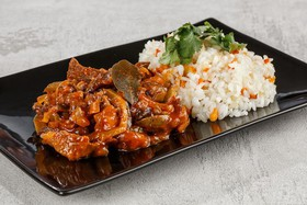 Азу из говядины с рисом с овощами (пн) - Фото
