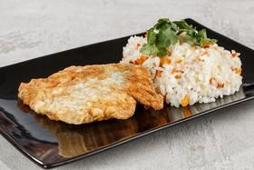 Горбуша в кляре с рисом,овощами(четверг) - Фото