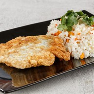 Горбуша в кляре с рисом,овощами(четверг) Фото