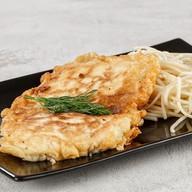 Бризоль из курицы со спагетти (вторник) Фото