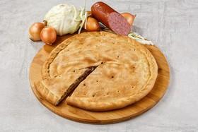 Пирог с капустой и копченостями - Фото