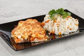 Горбуша под овощами с рисом (суббота) - Фото