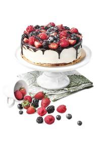 Эко с ягодами торт - Фото