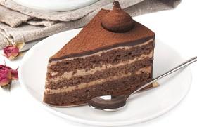 Шоколадно-миндальное пирожное - Фото