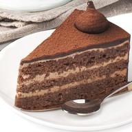 Шоколадно-миндальное пирожное Фото