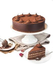 Шоколадно-миндальный торт - Фото