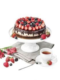 Чизкейк со свежими ягодами - Фото