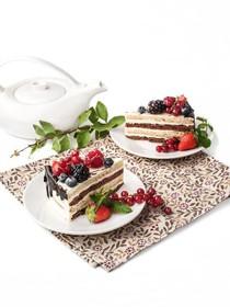 Эко с ягодами пирожное - Фото