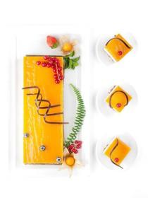 Манго-маракуйя с сырным кремом торт - Фото