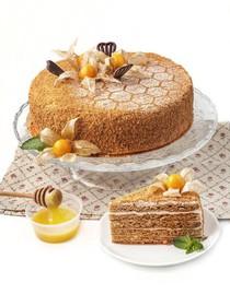 Медовик со сметанным кремом торт - Фото