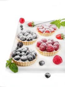 Флан с ежевикой пирожное - Фото