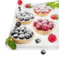 Флан с ежевикой пирожное Фото