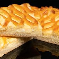 Пирог творожный на дрожжевом тесте Фото