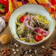 Салат с печенью индейки Фото