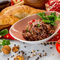 Лобио с грецким орехом салат Фото