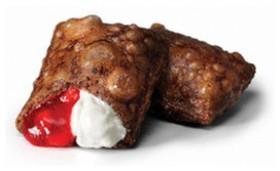 Шоколадный пирожок клубника-крем-чиз - Фото