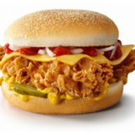 Чизбургер с луком Фото
