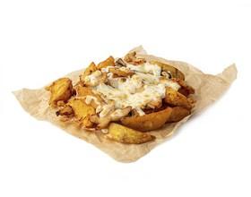 Картофель с ветчиной и грибами - Фото