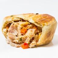 Пирог курица с овощами Фото