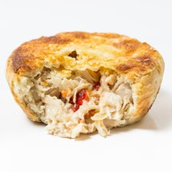 Пирог курица с овощами в соусе том-кха Фото