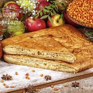 Пирог слоеный с облепихой и творогом Фото