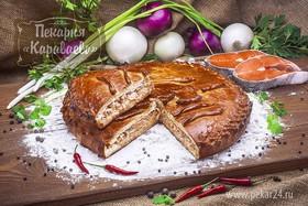 Пирог с семгой - Фото