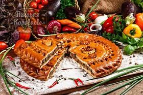 Пирог с баклажанами и овощами - Фото
