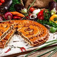 Пирог с баклажанами и овощами Фото
