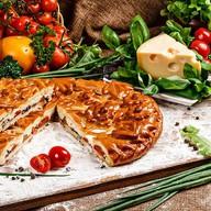 Пирог с томатами и сыром Фото
