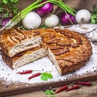 Пирог с сырком Фото
