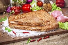 Пирог слоеный с курицей и ананасом - Фото