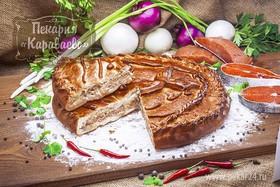 Пирог с семгой и горбушей - Фото