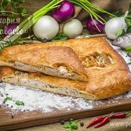 Пирог слоеный с сырком Фото