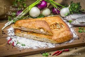 Пирог слоеный с сырком - Фото