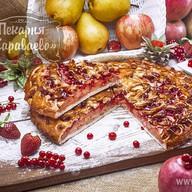 Пирог со смородиной и яблоками Фото
