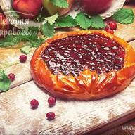 Пирог открытый с брусникой Фото