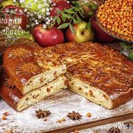 Пирог сдобный с облепихой и творогом Фото