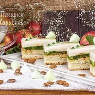 Торт Яблочно-миндальный Фото