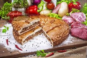 Пирог с мясом и овощами - Фото