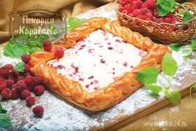 Пирог слоеный Малиновое безумие - Фото